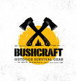 adventure mountain hike bushcraft creative vector image