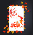 autumn background with maple leaves card vector image