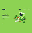 banner statistics and data analysis vector image vector image