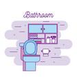 bathroom toilet paper cabinet furniture towels vector image vector image