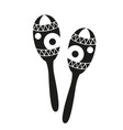 black and white maracas silhouette vector image