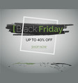 black friday sale green concept for advertisement vector image vector image