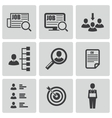 black job search icons set vector image vector image