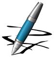 blue pen vector image vector image