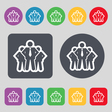 business team icon sign A set of 12 colored vector image