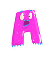 cartoon character monster letter a vector image