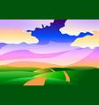 Cartoon stylized idyllic peaceful summer landscape vector image