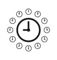 clock icon isolated on white background vector image vector image