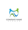 dental logo template icon design vector image vector image