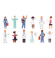 doctor nurse characters medical nurses health vector image