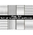 dotted pop art seamless pattern background black vector image