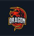 dragon mascot logo esport vector image vector image