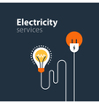 Electricity connection electrical services and vector image vector image
