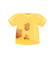 flat icon of bright yellow t-shirt with vector image