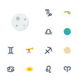 flat icons horoscope goat lunar and other vector image vector image