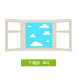 fresh air open window strong health contributor vector image