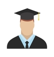 Graduate flat icon vector image