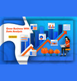 grow business with data analysis up arrow vector image vector image