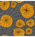 Halloween seamless background with web spider vector image vector image