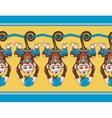 hang monkey seamless ribbon pattern with a vector image