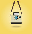 hanging instant camera vector image vector image
