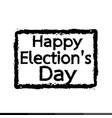 happy election day design vector image