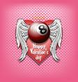 happy valentine day and billiard vector image