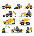 heavy trucks or lorry auto for industrial work vector image vector image