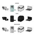 home appliances and equipment cartoonblack vector image