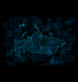 hud map russian federation with federal vector image vector image