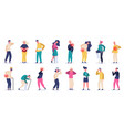 injured people adult characters suffering from vector image vector image