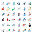 it internet icons set isometric style vector image vector image