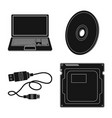 laptop and device sign set vector image vector image