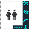 lesbian icon flat vector image vector image