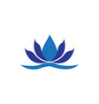 lotus spa logo vector image