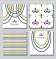 mardi gras carnival decorative template and vector image vector image