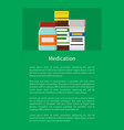 medication poster with bottles vector image
