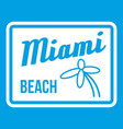 miami beach icon white vector image