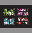 new york brooklyn the bronx manhattan t vector image vector image