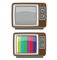 old tv vector image vector image