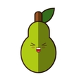 pear fresh fruit kawaii style isolated icon vector image vector image