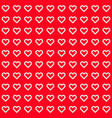 red abstract background with heart signs vector image vector image