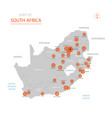 republic of south africa map with administrative vector image