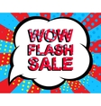 Sale poster with WOW FLASH SALE text Advertising vector image vector image