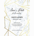 save the date card template of geometric design vector image vector image