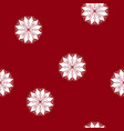 seamless pattern with a snowflake vector image vector image