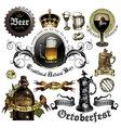 set beer elements vector image vector image