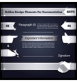 Silver Design Elements For Documentation Set5 vector image