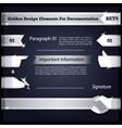 Silver Design Elements For Documentation Set5 vector image