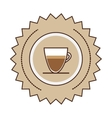 sticker stamp colorful glass jar of coffee with vector image vector image